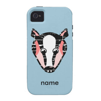 Cute Badger Face iPhone 4 Cover