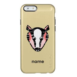 Cute Badger Face Incipio Feather® Shine iPhone 6 Case