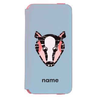 Cute Badger Face Incipio Watson™ iPhone 6 Wallet Case