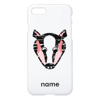 Cute Badger Face iPhone 7 Case