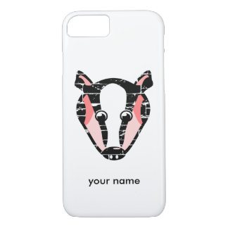 Cute Badger Face iPhone 7 Case