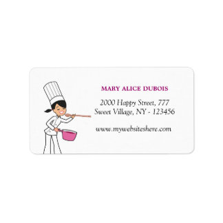 Cute Baker Girl Address Label