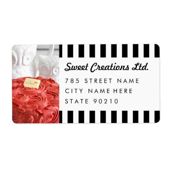 Cute Bakery Cafe Business Shipping Address Lables Shipping Label