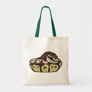 Cute Ball Python Pet Snake Drawing Budget Tote Bag