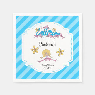 Cute Ballerina Baby Shower Theme Disposable Napkins