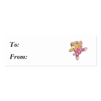 Cute Ballerina Bear Pack Of Skinny Business Cards
