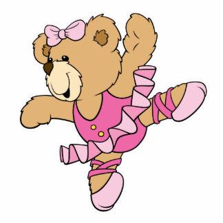 Cute Ballerina Bear Standing Photo Sculpture