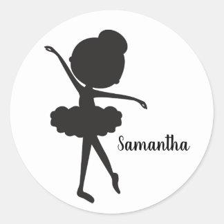Cute Ballerina Birthday Stickers