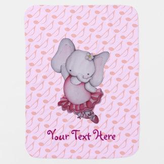 Cute Ballerina Elephant Baby Blanket