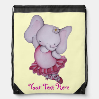 Cute Ballerina Elephant Backpack
