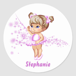 Cute Ballerina Girl Personalized Stickers