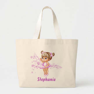 Cute Ballerina Girl Reusable Tote Bag