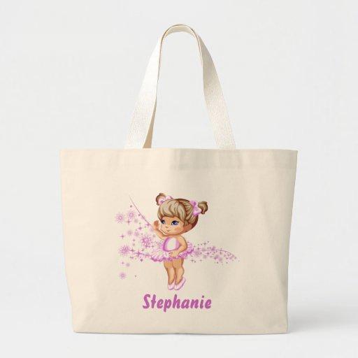 Cute Ballerina Girl Reusable Tote Bag