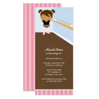Cute Ballerina Girl's Birthday Party Card