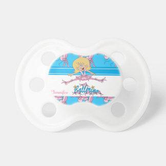 Cute Ballerina Nursery Theme Baby Pacifiers