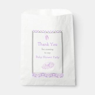 Cute Ballet Purple Baby Shower Party Favour Bags