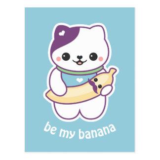 Cute Banana Cat Postcard