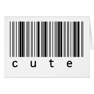 Cute Barcode Card