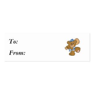 Cute Baseball Bear Pack Of Skinny Business Cards