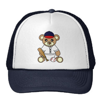Cute Baseball Boy Teddy Bear Cap