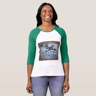 Cute baseball t-shirt with Big and Little turtles.
