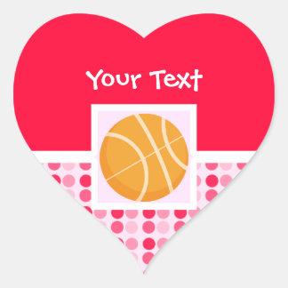 Cute Basketball Heart Sticker