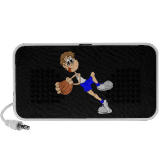 Cute Basketball Player Cartoon Doodle Mp3 Speakers