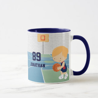 Cute basketball player Navy red basketball jersey Mug