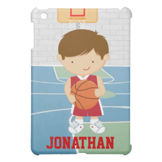Cute basketball player red basketball jersey iPad mini cases
