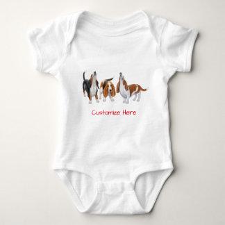 Cute Basset Hound Dogs Baby One Piece Baby Bodysuit