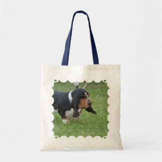 Cute Basset Hound Tote Bag