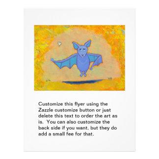 Cute bat art for folks who love bats fun colorful custom flyer