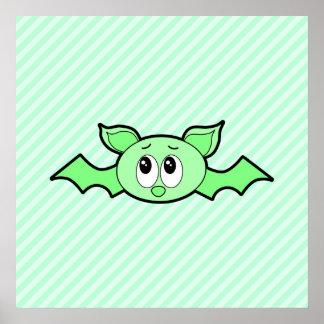 Cute Bat in Green Posters