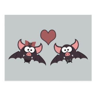 Cute Bat Love Desgin Postcard