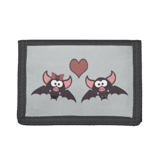 Cute Bat Love Desgin Tri-fold Wallet