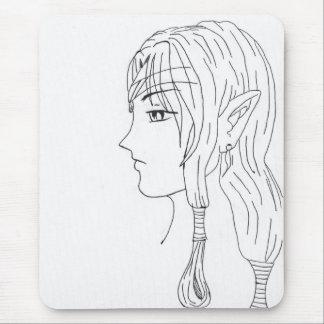 cute battle elf mouse pad