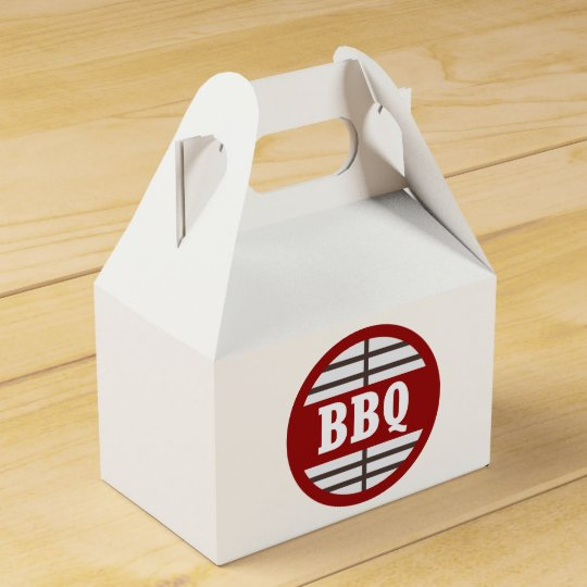 Cute bbq word art party favour box