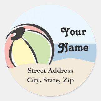Cute Beach Ball Address Label