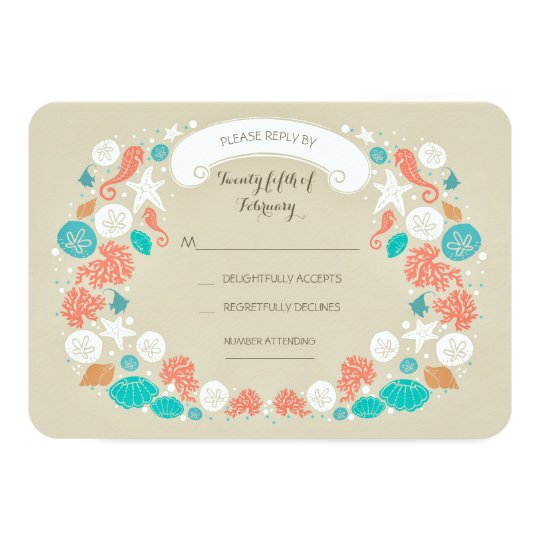 Cute Beach Wedding RSVP cards