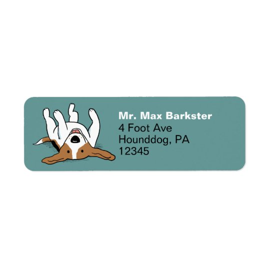 Cute Beagle Cartoon Dog Return Address Label