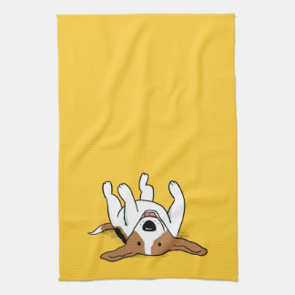 Cute Beagle Cartoon Dog Tea Towel