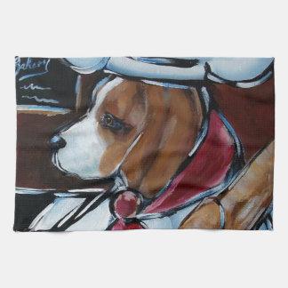 Cute Beagle Chef Hand Towels