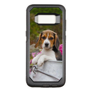 Cute Beagle Dog Puppy in Milk Churn with Flowers - OtterBox Commuter Samsung Galaxy S8 Case