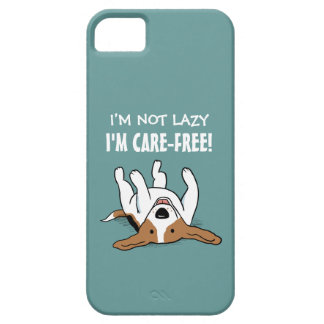 Cute Beagle - Dog with Custom Text iPhone 5 Covers