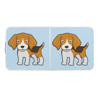 Cute Beagle Pong Table
