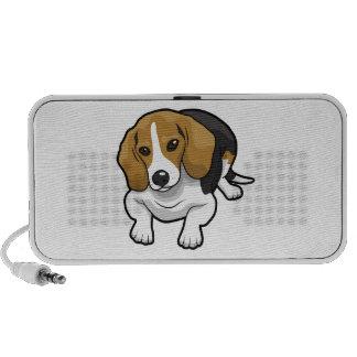 Cute Beagle Portable Speakers