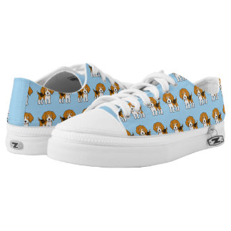Cute Beagle Printed Shoes