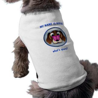 Cute Beagle Puppy Dog and Butterfly Dog T-Shirt Doggie T-shirt