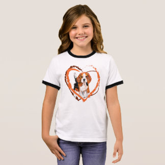 Cute Beagle puppy Ringer T-Shirt