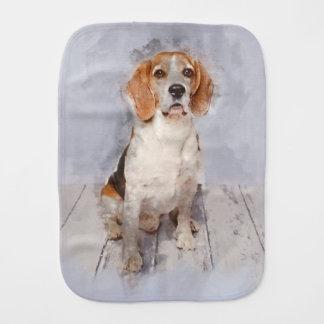 Cute Beagle Watercolor Portrait Burp Cloth